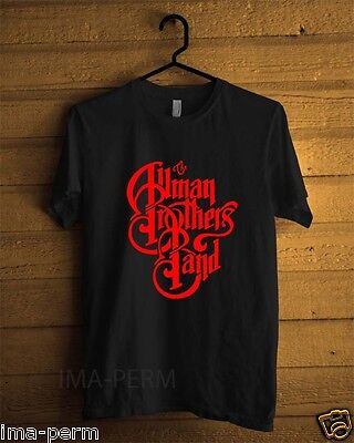 Red The Allman Brothers Band Black T-shirt for Man Size S-2XL