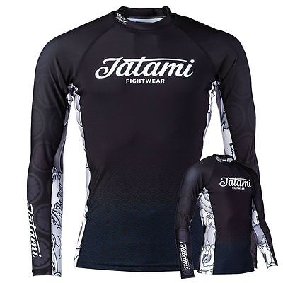 Tatami Mike Fowler Rash Guard Long Sleeve MMA BJJ Compression Top Gym Mens