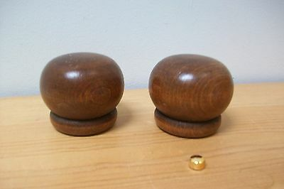 Pair of vintage french wooden finials for furniure decoration  mounts #3A