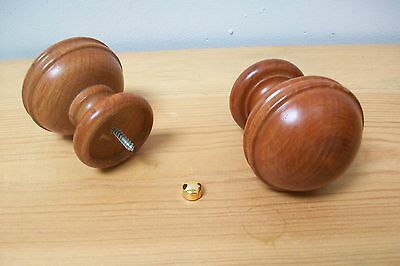 Pair of vintage french wooden finials for furniure decoration  mounts #13
