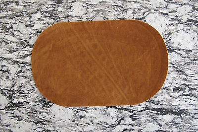 "#5113A Lot 2Pcs 7"" Brown Oval Elbow Knee Patches Repair Appliqué"