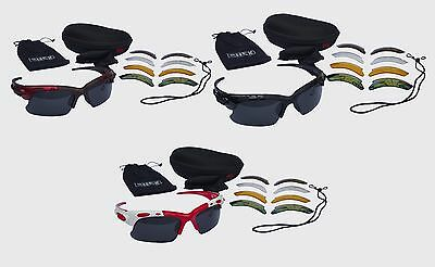 CHEX Europa Cricket Sports Glasses Sunglasses 5 Interchangeable Lenses Tinted