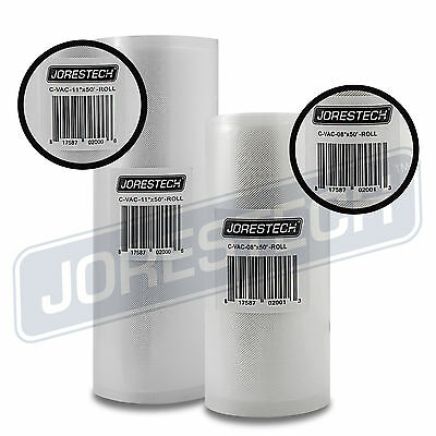 "2 Pack 11"" x 50' and 8"" x 50' Commercial Vacuum Sealer Saver Rolls Food Storage"