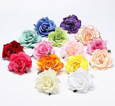 Hot Women Rose Flower Hairpin Brooch Wedding Party Bridal/Bridesmaid Hair Clip