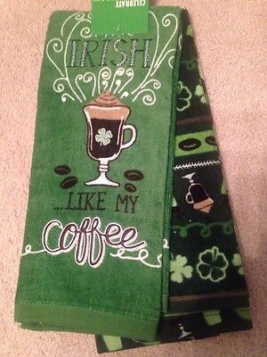 Celebrate St Patrick S Day Irish Like My Coffee 2 Pack Kitchen