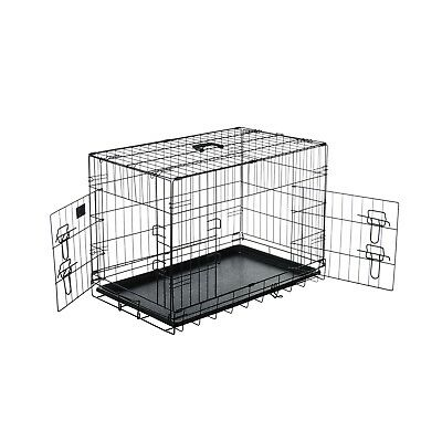"""Pet Trex 30"""" Folding Pet Crate Double Door Kennel Wire Cage 30 Inch"""