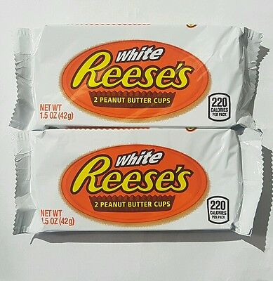 2 x 42g Packets Of White Reeses Peanut Butter Cup