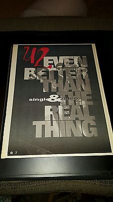 U2 Even Better Than The Real Thing Rare Original Promo Poster Ad Framed!