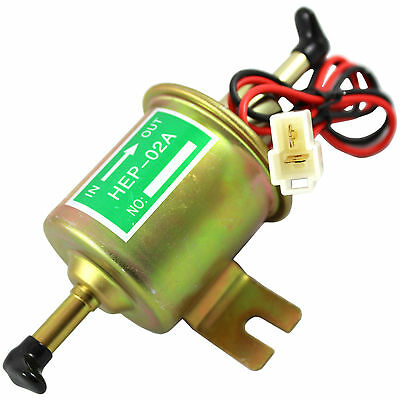 New Universal 12V Electric Gas Diesel Fuel Pump Inline Low Pressure HEP02A