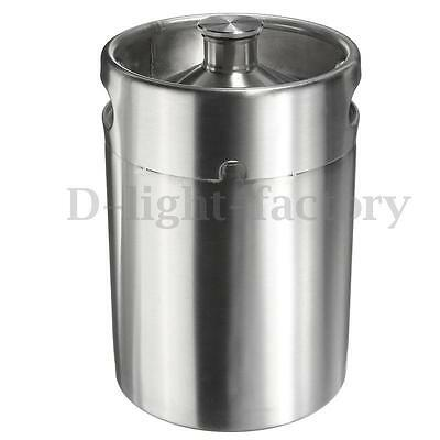 NEW 5L Stainless Steel Mini Keg Growler Mini Keg Style Home Brew Brewing