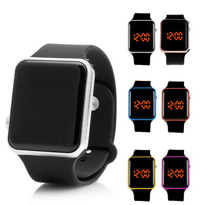 Silicone LED Men Womens Sport Watch Touch Digital Bracelet Wrist Watches Unisex