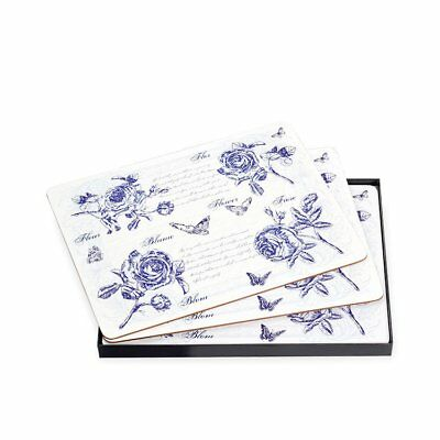 NEW Ogilvies Designs Blue Blooms Placemats Set of 6 (RRP $30)