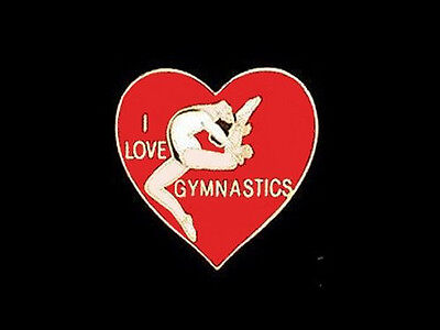 I Love Gymnastics Lapel Pin - OUR BEST SELLING GYM PIN