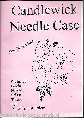 Candlewick needle case sewing craft kit c.2005 pattern instructions fabric