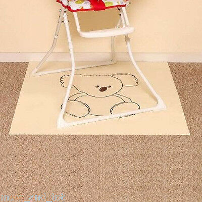 Pipsy Koala High Chair Splash Mat Wipe Clean Baby Toddler Child Feeding
