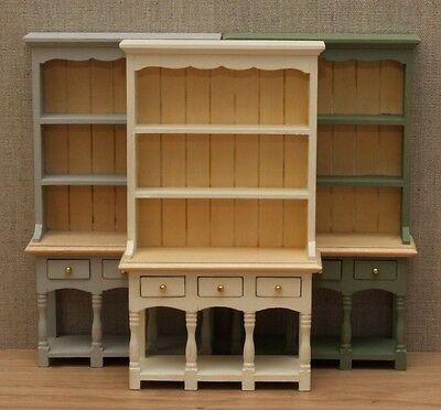 1:12 Dolls House Country Kitchen dresser – Choice of 15 colours