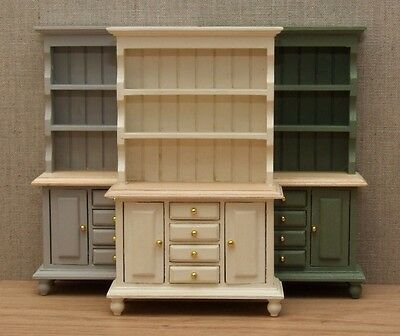 1:12 Dolls House Traditional Welsh dresser – Choice of 15 colours