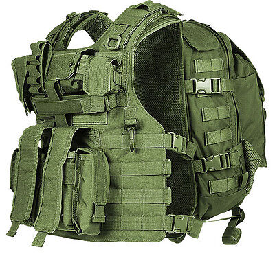 TV7776 Marom Dolphin EGOZ Semi Modular Green Tactical Vest