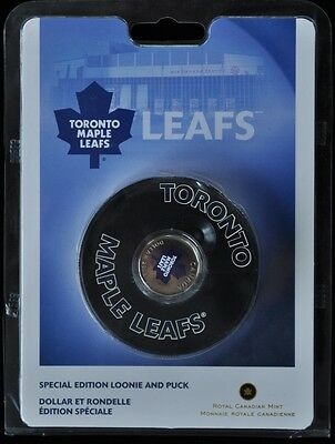 2008 Toronto Maple Leaf Special Edition Loonie & Puck
