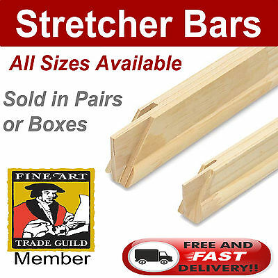 New Stretcher Bars Canvas Frames Thin & Deep Gallery Edge Sold In Pairs & Boxes