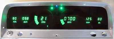 Chevy Truck DIGITAL DASH PANEL FOR 1964-1966 Gauges GMC Intellitronix GREEN LEDs