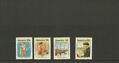 Jamaica Sg 750-753-500Th Anniv Of Discovery Of America By Columbus   Mnh