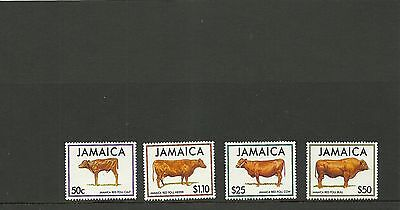 Jamaica Sg 860-863-Red Poll Cattle Mnh