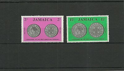 Jamaica Sg296-297 Centenary Of Firstb Jamaican Coins   Mnh