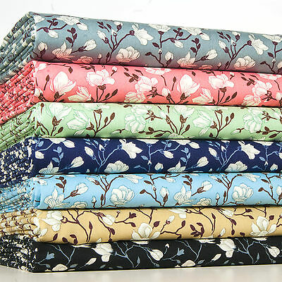 ROSES Fabric- 100% COTTON FLORAL Vintage MATERIAL by the metre Fat Quarter
