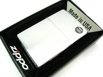 ZIPPO Full Size Brushed Chrome CLASSIC Windproof Lighter New! 200