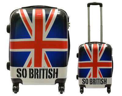 Maleta Equipaje De Mano Low Cost Trolley 4 Ruedas Cabina Fantasia So British