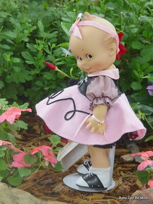 Retired Effanbee Kewpie Poodle Skirt V3010 With Box, COA, Wrist Tag 12 Inch Doll