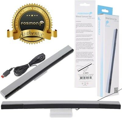 Fosmon 7.5FT Wired Remote Motion Sensor Bar IR Inductor for Nintendo Wii U Wii
