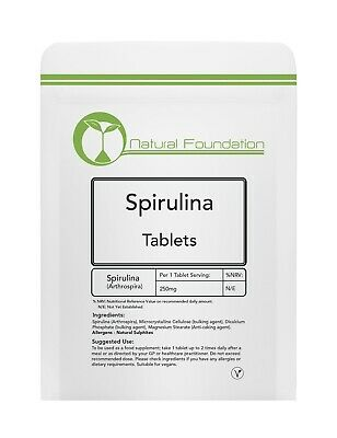 Organic Spirulina Tablets Detox Cleanse Boost Immune System Maintain Sugar