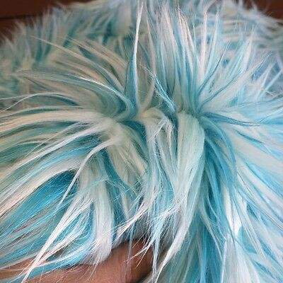 ' Toothpaste ' - Multi-Tone Blue - faux fur fabric - furaddiction