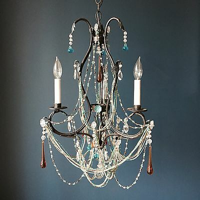 Iron Chandelier with Crystal 3 Light