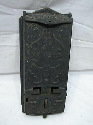 Early Cast Iron Wall Mail Letter Box Mailbox Letterbox Post Postal 1909 Patent