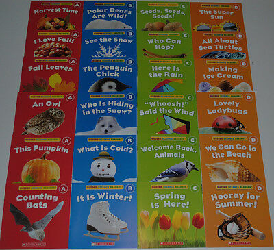 Lot Books SEASONS Easy Reader PreK Kindergarten Homeschool Guided Level ABCD