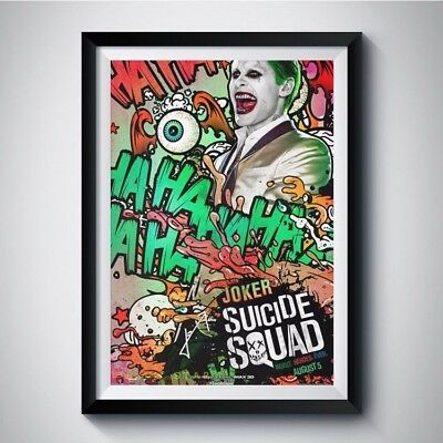 SUICIDE SQUAD Jared Leto Autograph Reprint Movie Poster A4 A3 5R THE JOKER