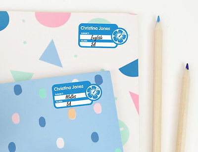 6cm Bright Star Kids Children's Sticky Name Labels for Notebooks - Subject/Class