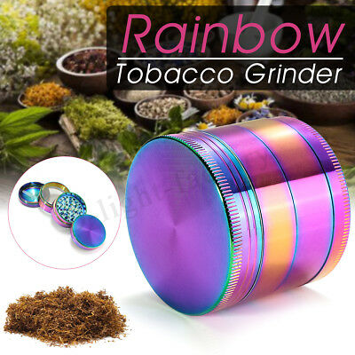 4 Layers Metal Zinc Alloy Rainbow Cigar Herb Grinder Hand Muller Smoke Crusher