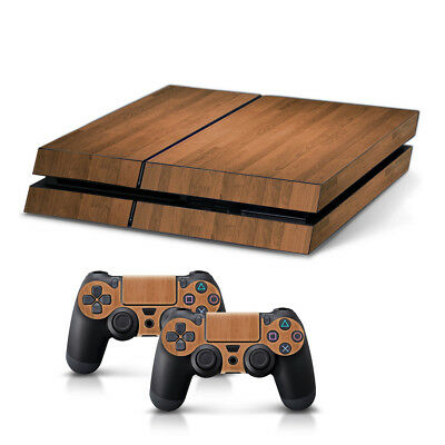 kwmobile STICKER SONY PLAYSTATION 4 HOLZ MASERUNG CONTROLLER KONSOLE SKIN FOLIE