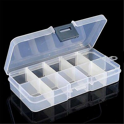 10 Compartments Float Rig Lure Fishing Tackle Box Tray Tough Box Adjustable Case