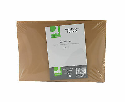 Q-Connect 180gsm Square Cut Folder Pack of 100