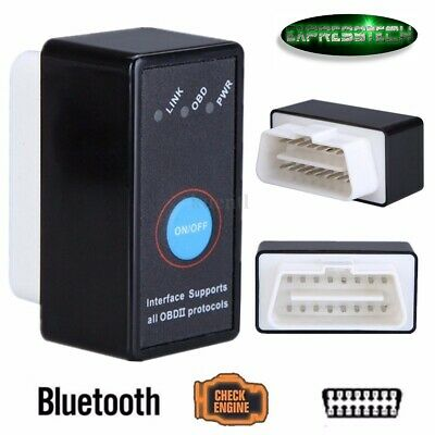 Diagnosi Interfaccia Mini Elm327 Obd2 Bluetooth Obdii Canbus Torque Tasto On/off
