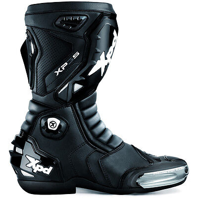 """Spidi Xpd Xp3-S Motorcycle Race Road Track Boots """"black / Black"""" Sizes 41 To 48"""