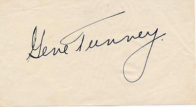 Heavywgt Champ GENE TUNNEY - Album Page Signed