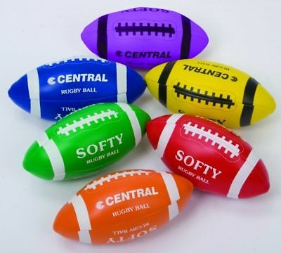 Junior Fun Outdoor Fun Sports Toy Polyfibre 32 Panel Softee Rugby Ball Set