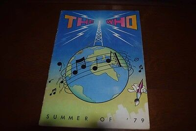 """++ The Who """"Summer of 79"""" Tour Programme ++ Original ++ Townsend ++"""