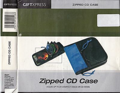 Zipped Cd Case Holds Up To 24 Compact Discs Or Cd-Roms, Ready Gift Wrapped! 0128